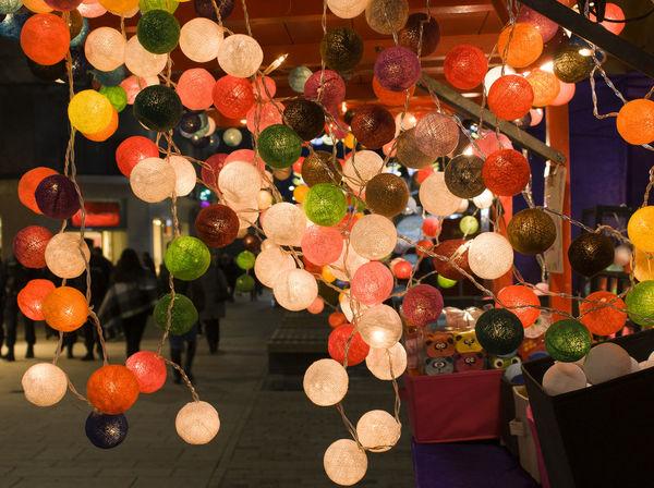 lights Baloons EyeEmNewHere Xmas Xmas Decorations Celebration Chritsmas Close-up Hanging Illuminated Lighting Equipment Multi Colored Night