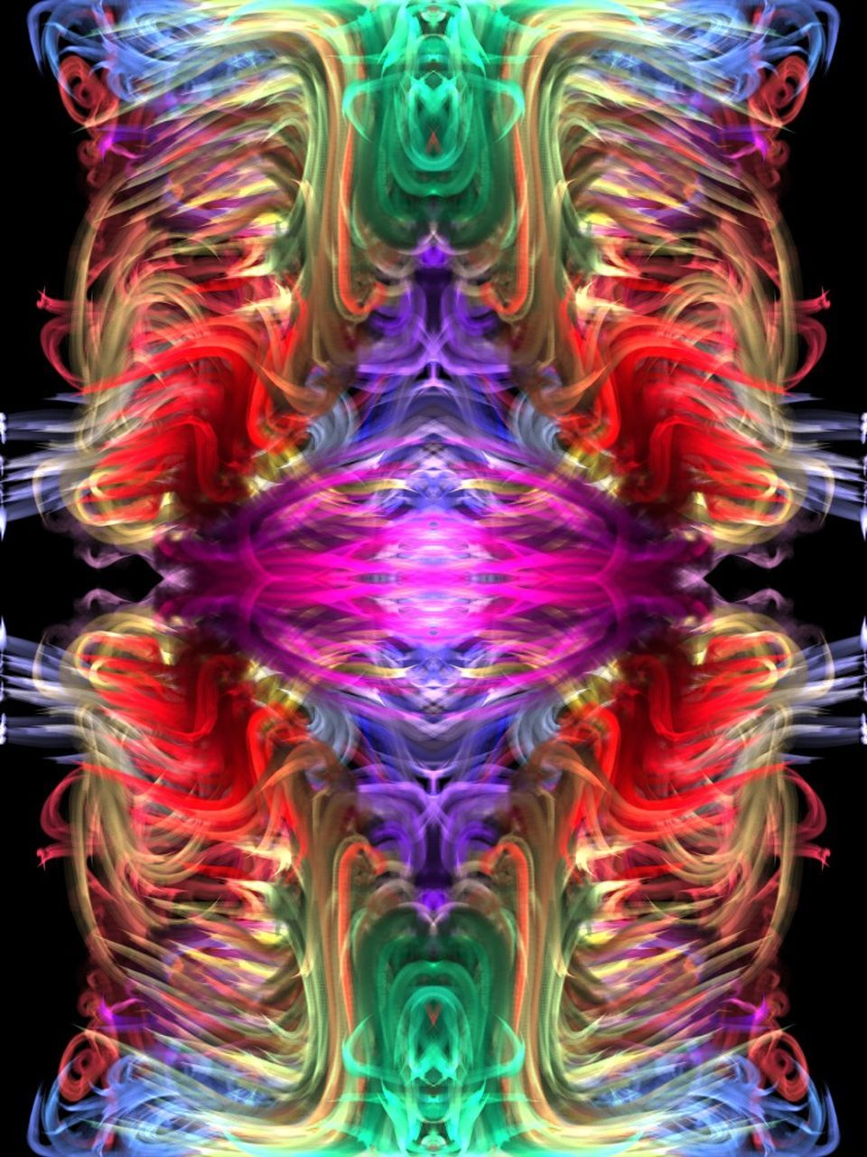 abstract, multi colored, black background, purple, no people, close-up