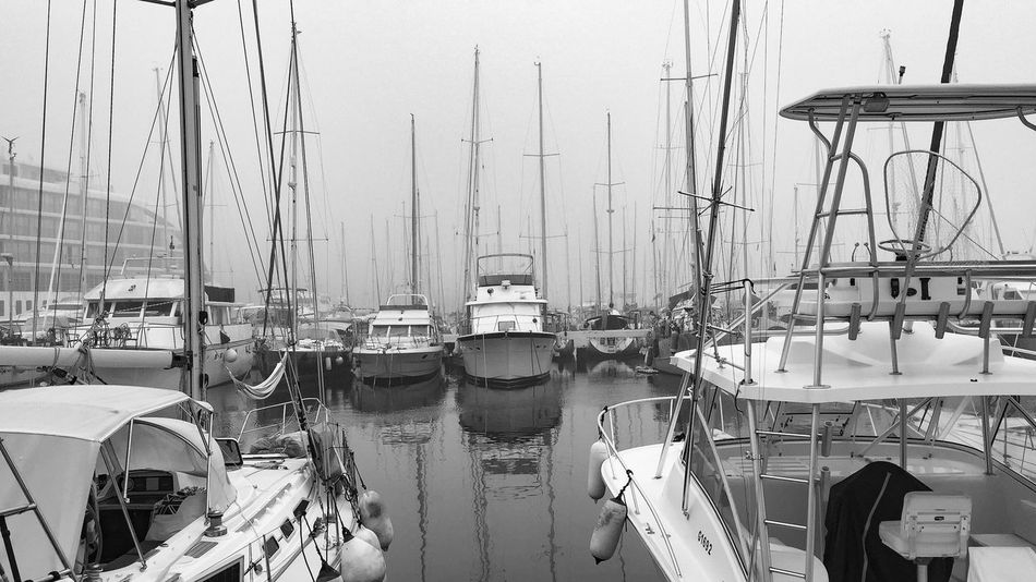Nautical Vessel Moored Harbor Transportation Mast Mode Of Transport Sailboat Large Group Of Objects No People Outdoors Day Sea Yacht Sky Water Nature Sailing Ship
