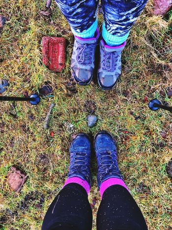 Visit Scotland Hiking Walking Low Section Human Leg Shoe Standing High Angle View Real People Grass