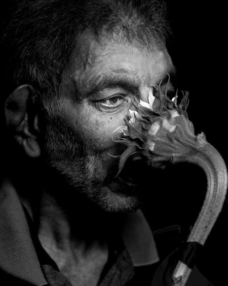 I was helping residents of a nursing home get some decent portraits of their twilight years selves. In between I managed to get some truly inspired poses totally imagined by my subjects. Blackandwhite Fine Art Elderly Beard One Man Only Only Men Black Background One Person Portrait Studio Shot