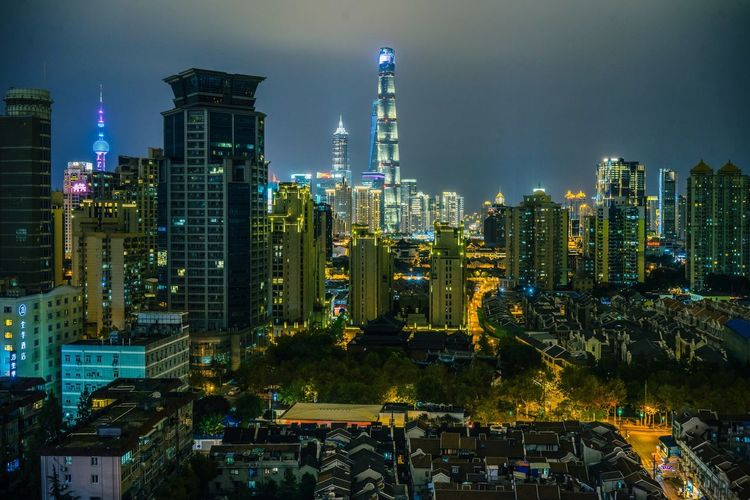Skyline at Night... Architecture_collection Urban Landscape Building Exterior Architecture City Built Structure Office Building Exterior Building Skyscraper Cityscape Illuminated Night Modern Urban Skyline Tower Sky Tall - High Travel Destinations No People