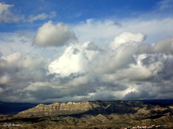 Vista de las montañas y nubes desde el mirador de las Cuevas de Canalobte, Busot EyeEm Nature Lover EyeEm Best Shots Landscape Nature