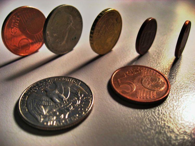 Coins Euro USD