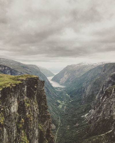 Norway Fjord Fjordsofnorway Mountain Nature Sky Beauty In Nature Cloud - Sky Mountain Range Landscape Peak Day No People Outdoors