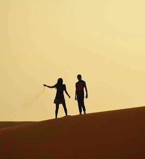 Trip Photo Jaisalmer Relaxing Sand Thar Desert Rajasthan Indian Indian Couple