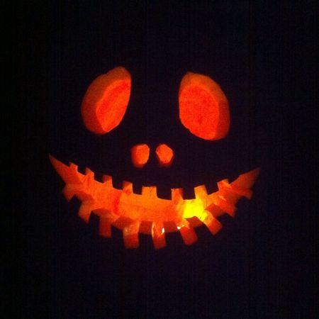 Eating Fire in Style Orange Black instagood night smile hot cool amazing instaeffects joker jack jackolantern smile teeth custom