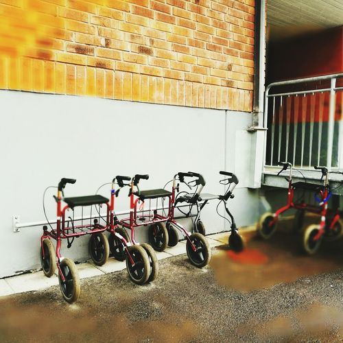 once we were bicycles Old Age Rullator Zimmer Frame EyeEm Selects Parking Mode Of Transport