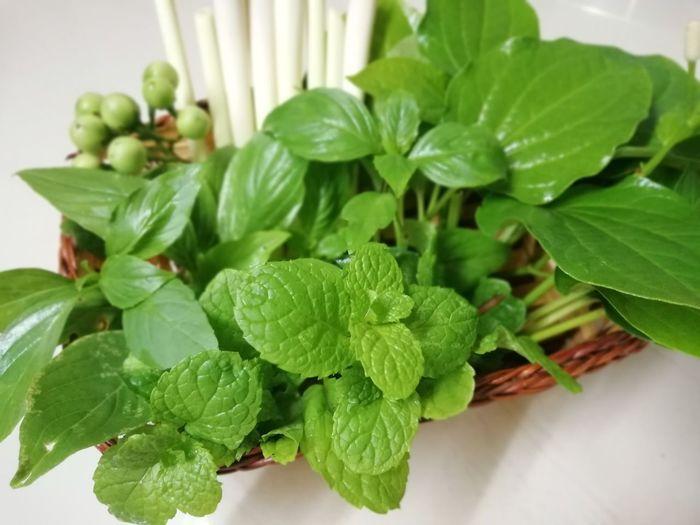 Prepared vegetables Various Mint Leaf - Culinary Basil Leaf Herb Close-up Plant Green Color Food And Drink Leaf Vegetable Raw Food Ingredient