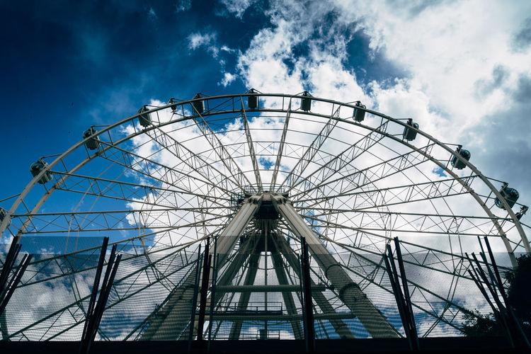 Panoramica Wheel SPAIN Summer 2018 Holiday Ferris Wheel Amusement Park Ride Blue Arts Culture And Entertainment Amusement Park Sky Cloud - Sky