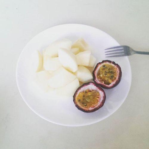 早餐 早餐 蘋果 百香果 Breakfast Apple