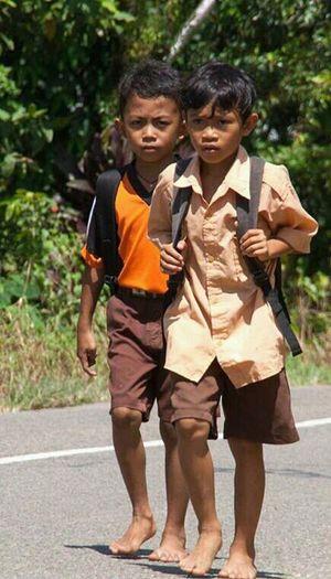 School Uniforms Around The World _ perjuangan menempuh ilmu,, First Eyeem Photo Indonesian Street (Mobile) Photographie Eyeemphotography Naturalface Student Life MySchool