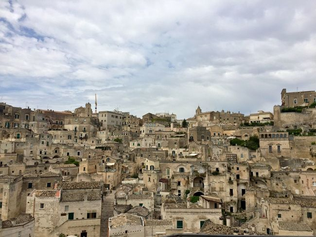 My Year My View Architecture Building Exterior Built Structure Sky Travel Destinations Residential Building House Crowded Outdoors Day Cityscape City Nature Rock Formation Rock - Object Sassi Di Matera Sassidimatera (null)Sky And Houses Ghost Town (null)Old Town Architecture_collection Cityscape
