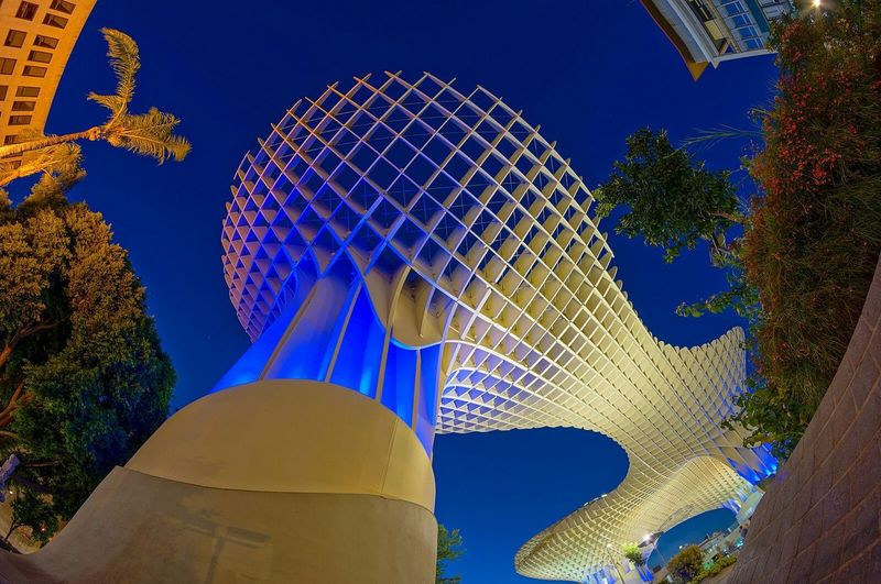 SPAIN Sevilla Metropol Parasol Wideangle Fisheye