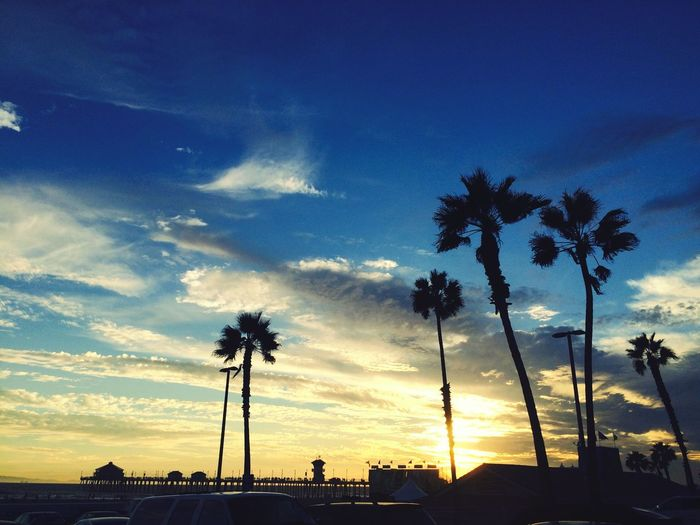 Sunset_collection Paradise Palm Trees Taking Photos MyPhotography Colors Sky_collection California Love Love ♥ Clouds And Sky Seasiders Landscape_photography Landscape_Collection Beautiful Day Beachphotography Beach Life On The Beach Huntingtonbeach Clouds Travel