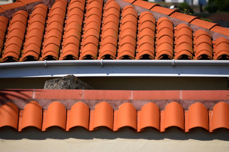 Row of roof tiles
