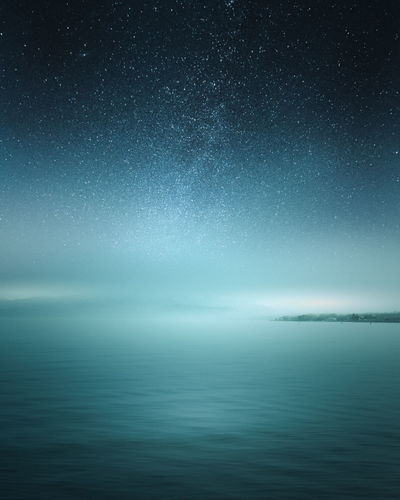 Astronomy Beauty In Nature Horizon Horizon Over Water Idyllic Infinity Nature Night No People Non-urban Scene Scenics - Nature Sky Space Star - Space Tranquil Scene Tranquility Water Waterfront