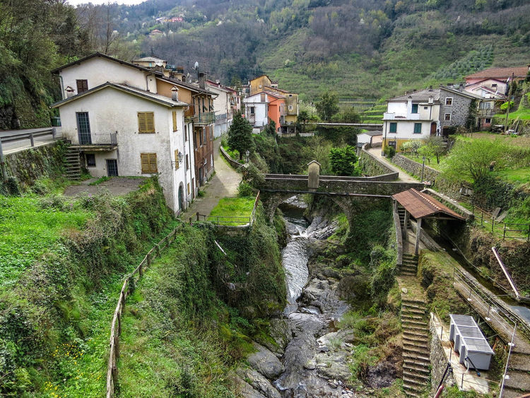 Across The River Architecture Bridges Landscape_photography Mountain Valley Mountain Village No People Outdoors Stream