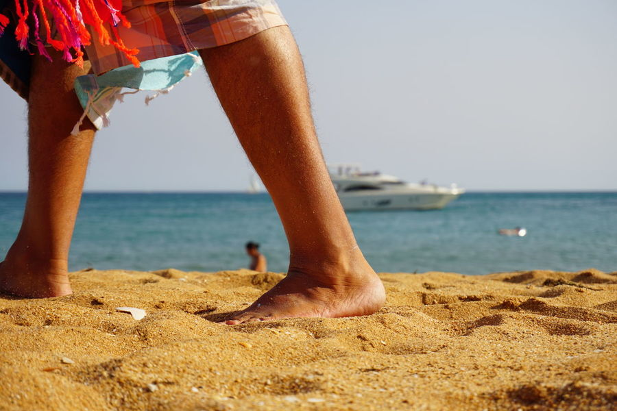 Barefoot Beach Close-up Day Foot Holiday Human Body Part Human Leg Leg Low Section Outdoors People Sand Sea Strand Summer Sun Urlaub Vacations Women