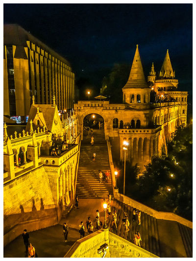 More stairs. Travel Destinations Turistic Attractions Tredition Hungary City Illuminated Tree Sky Architecture Building Exterior Built Structure