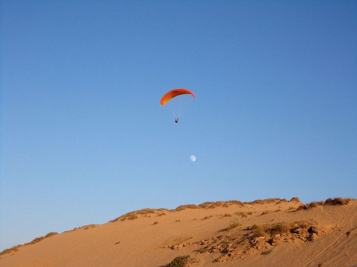Skyjumping in morocco Morocco Sky Skyjump Africa Moon Day Sand Dunes Sand Desert Parachute