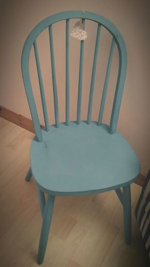 Kitchen chair in Belgrave blue (set of 2 with other chair untouched, therefore can be painted to order). £20 each.