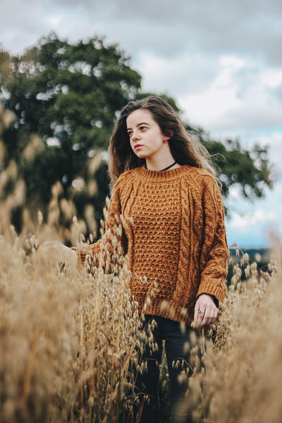 Fields of Gold Natural Light Natural Light Portrait Nature Portrait Of A Woman Wheat Wheat Field Woman Beautiful Woman Beauty Day Fashion Landscape Lifestyles Nature One Person Outdoors Portrait Real People Sky Standing Tree Warm Clothing Women Young Adult Young Women
