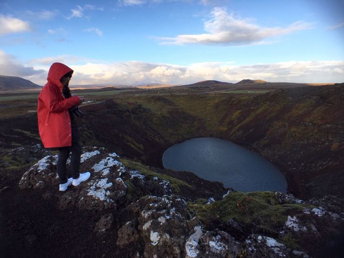 Kertid Crater Red Coat Iceland Adventure Club