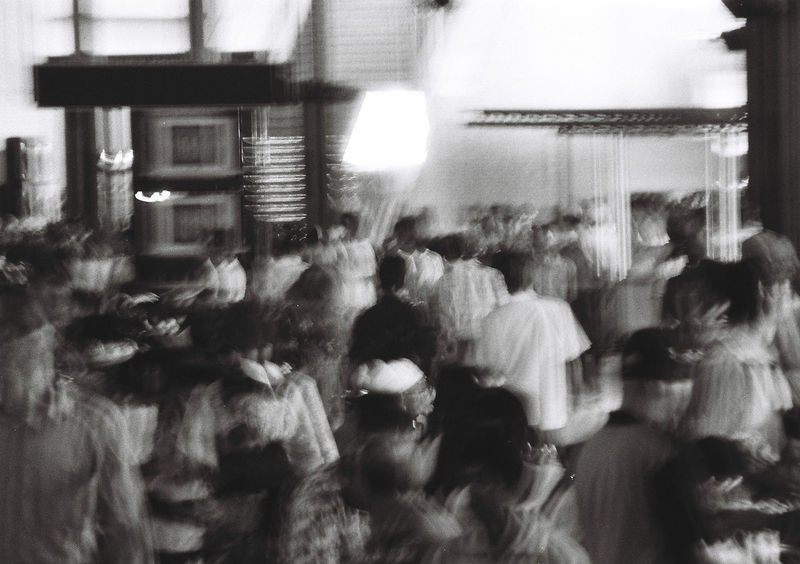 Silence in the crowded day blackand Blackandwhite The EyeEm Facebook Cover Challenge Analog Photography Feel The Journey Mobility In Mega Cities