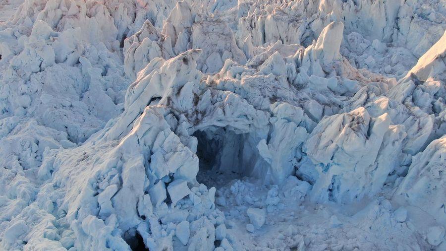 Full frame shot of snow covered landscape