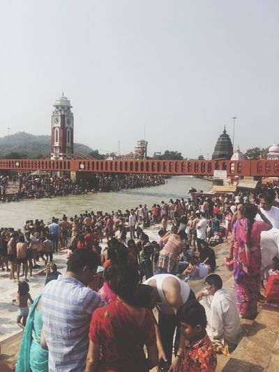 People People Photography People Photography people and places Peoplephotography Water River Riverside River View Riverbank Tample City Crowd Togetherness Women Sky Bridge - Man Made Structure Bridge Shore Waterfront