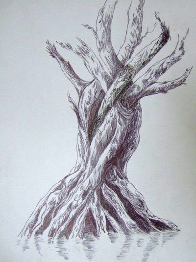 drawn by me in black pen. what do you see :) ? Sketch Sketching . Pen Drawing