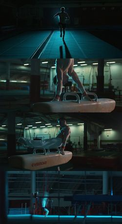 Screenshots from promo I produced on 27th March. Indoors  Sports One Person People Gymnastics Cinematography Dop Director Of Photography