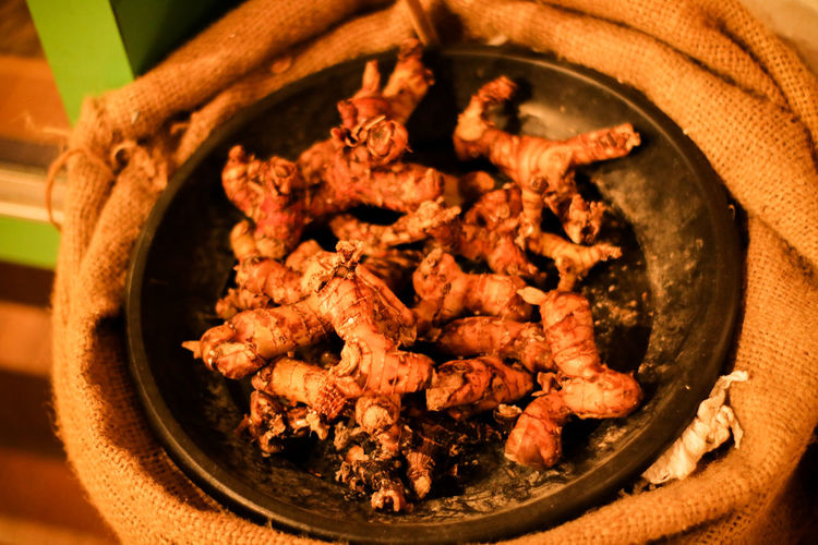 Close-up of meat served in bowl