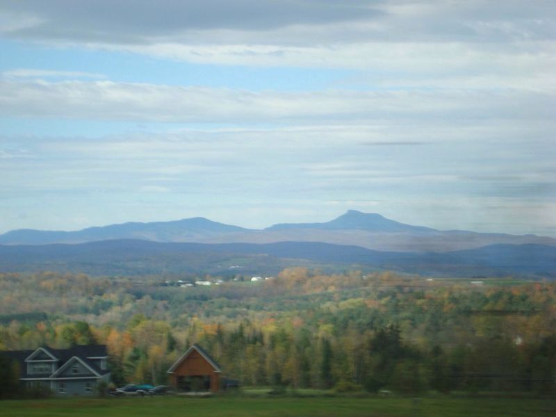 Autumn in Vermont. Buildings Clouds Sky Outdoors Fall Autumn Autumn Colors Trees Autumn Leaves Fall Leaves Leaves Fall Colors Vermont Grass Mountains Mountain