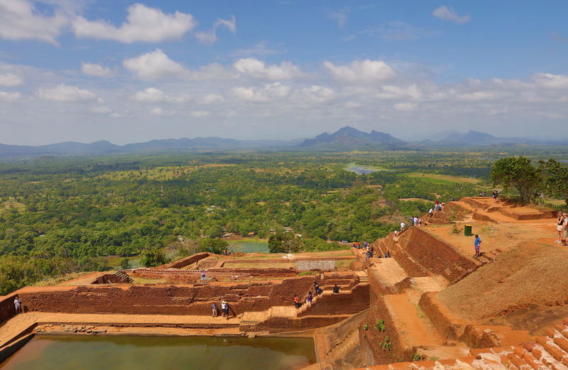 Architecture Built Structure King Kasyapa Landscape Mountain Range Royal Palace Ruins Of A Castle Ruins Of Royal Palace Sigiriya Sigiriya Rock Sinhalese Culture Sinhalese History Tourism Travel Destinations View From Above World Heritage Site