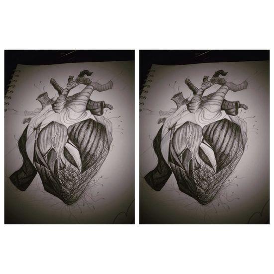 Heart Dibujo Blackandwhite
