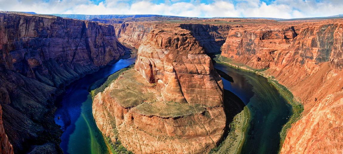 Panoramic view of horseshoe bend