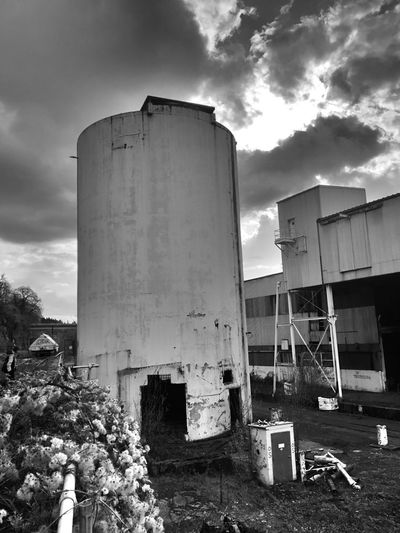 EyeEm Exploring Sky Building Exterior Built Structure Architecture Silo Factory Cloud - Sky Outdoors Water Tower - Storage Tank Scenics Landscape Abandonded Building Black And White Abandoned Abandoned Places Rusty Tank
