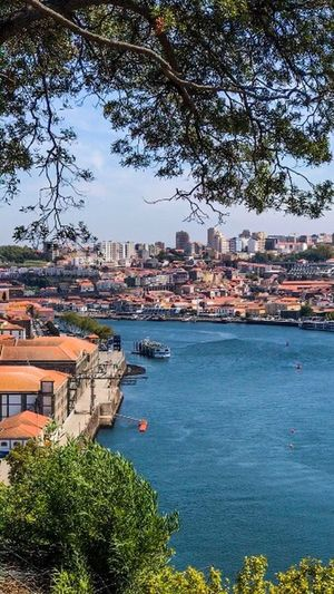 City Outdoors Residential Building Travel Destinations Oporto Portugal Architecture Cityscape Building Exterior Water Nautical Vessel Nature Sky First Eyeem Photo