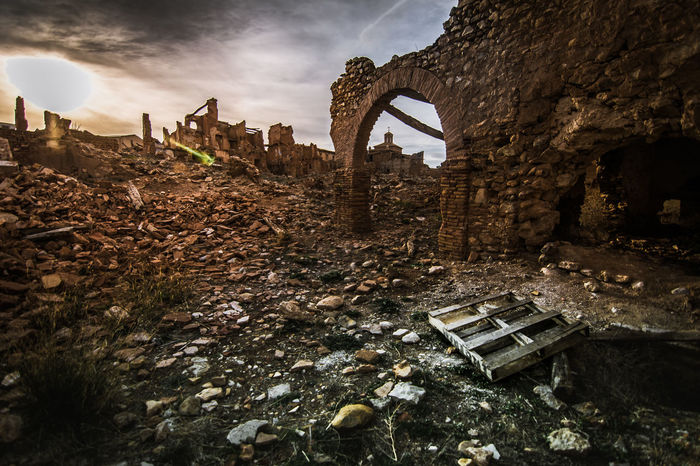 Civil War Ruins Abandoned Apocalyptic Architecture Belchite Broken Building Building Exterior Cloud - Sky Damaged Decline Demolished Destruction Deterioration Dirt History Nature No People Old Old Ruin Outdoors Ruined Sky Spooky The Past