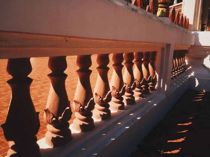 Sunlight No People Nature In A Row Shadow Day Arrangement Architecture Outdoors Side By Side Order Large Group Of Objects Building Exterior Repetition Railing Hanging Built Structure High Angle View Roof