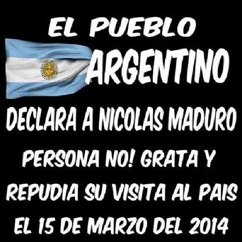 """""""AntiK_Unidos:¡13 DE MARZO A LAS 20HS TODOS A LAS CALLES! CACEROLAZO EN ARGENTINA Y EL MUNDO!RT/RT RT/By @ChiquinaSoy ------------- Repudio la visita del ilegítimo Maduro a Argentina, por considerarlo violador de DDHH y asesino de venezolanos. ----------------- El Nobel dijo:Repugnante presencia del criminal Raúl Castro en Venezuela es como si criminal Putin se apareciera hoy en Ucrania"""" ElQuePerseveraVence ChiquinaSoy EnLaUnionEstaLaFuerza VenezolanosenArguentina"""