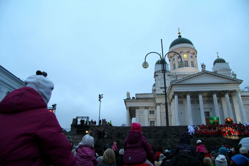 Christmas Around The World Christmas Spirit At Senaatintori / Senate Square Finland Christmas Parade Helsinki Suomi