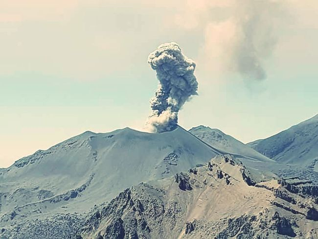 Volcano Erupting Danger Active Volcano Smoke - Physical Structure Power In Nature Volcanic Landscape Day Outdoors Nature RISK No People Mountain Ash Beauty In Nature Sky Second Acts