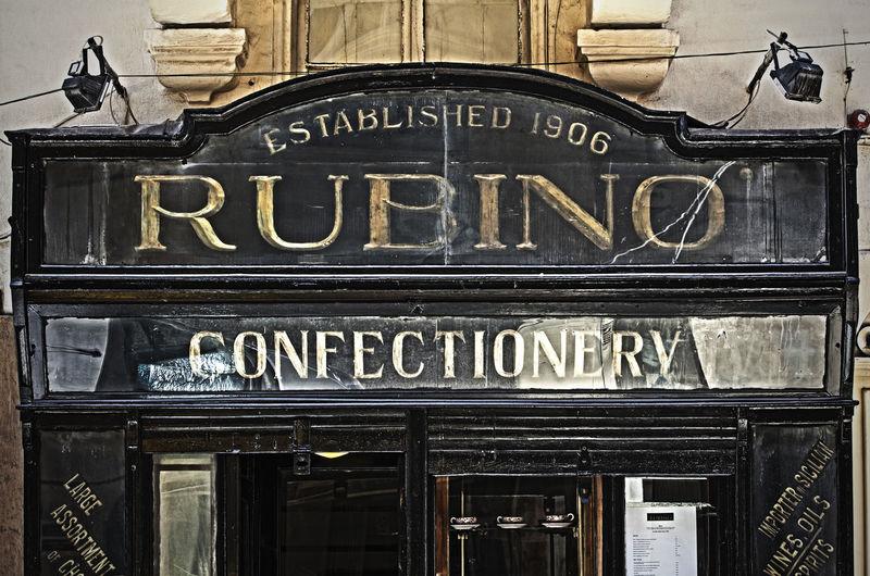Rubino City Malta Shop Sign Valletta European Capital Of Culture 2018 Valletta,Malta Street Photography Valletta