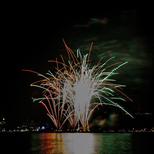 Firework exploding in sky