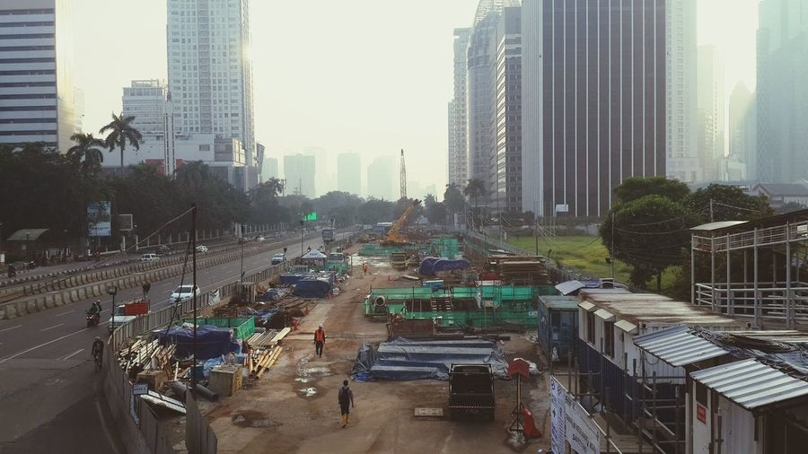 "They Never Tired To Built a ""LIFE"" Construction Cityscape Construction Site Construction Industry Construction Area Construction Work Construction Materials Construction Frame People And Places Worker Worker Life Work In Progress INDONESIA Jakarta Mrt Architecture Photograph"