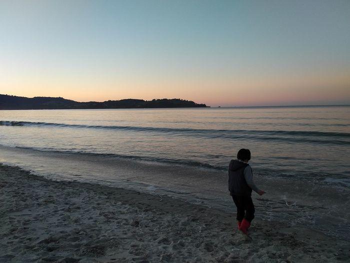 Sunset Beach Water Sky Outdoors