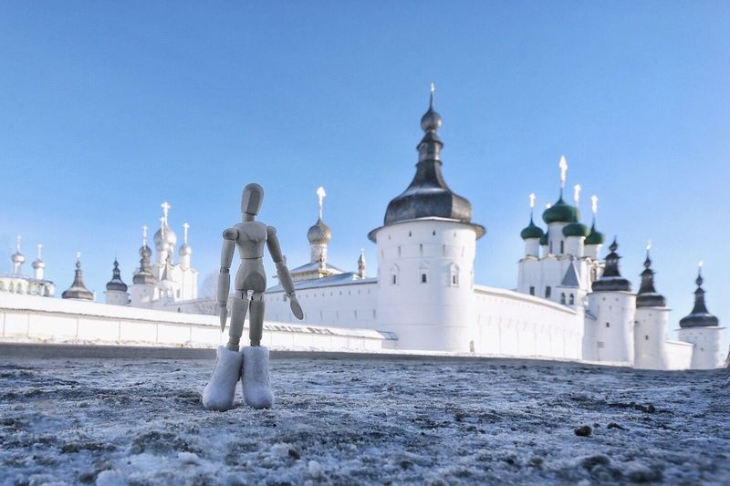 Frosty day in an ancient town of Rostov Religion Architecture Building Exterior Clear Sky CreativePhotographer Woodyforest Mannequin Built Structure Travel Destinations Russia Rostov Cultures Tadaa Community Cityscape
